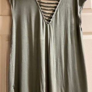 American Eagle Outfitters Tops - Green-gray American Eagle soft n sexy tank
